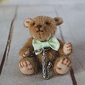 Мишки Тедди ручной работы. Ярмарка Мастеров - ручная работа Мини-мишка тедди Фрэнк. Handmade.