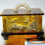 Сувениры и подарки handmade. Livemaster - original item Box of amber Ellada. Handmade.