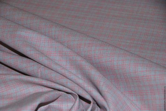 """Шитье ручной работы. Ярмарка Мастеров - ручная работа. Купить Лён-хлопок """"Уют"""" серо-розовый. Handmade. Серый"""