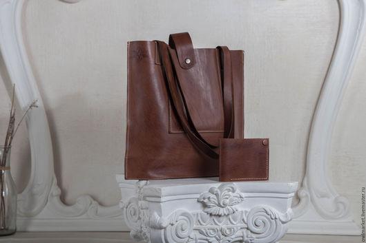 Мужские сумки ручной работы. Ярмарка Мастеров - ручная работа. Купить Кожаная сумка №5. Handmade. Кожаная сумка, бежевый