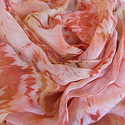 Аксессуары ручной работы. Ярмарка Мастеров - ручная работа Шарф шелковый Фламинго ручного крашения. Handmade.