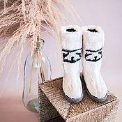 handmade. Livemaster - original item Felt boots made of natural deer kamus. Handmade.