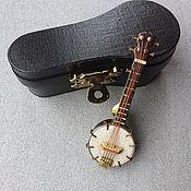 Винтаж handmade. Livemaster - original item Vintage Banjo Brooch Handmade. Handmade.