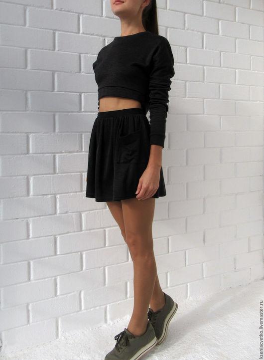 Юбки ручной работы. Ярмарка Мастеров - ручная работа. Купить Графитовая юбка. Handmade. Юбка, графитовая юбка, лето, зима