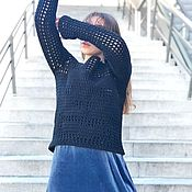 Одежда handmade. Livemaster - original item Knitted sweater-mesh