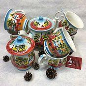 Посуда handmade. Livemaster - original item Moscow. Kremlin. Tea service. Handmade.