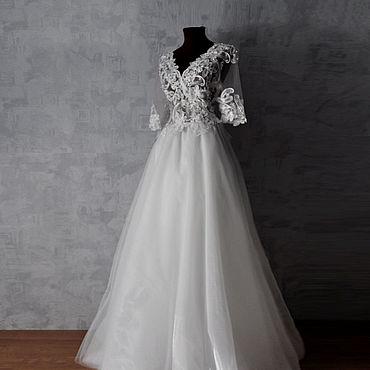 Свадебный салон ручной работы. Ярмарка Мастеров - ручная работа Платья: Свадебное платье с эффектом голого тела. Handmade.