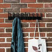 """Для дома и интерьера ручной работы. Ярмарка Мастеров - ручная работа Вешалка """"Счастье"""". Handmade."""