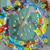 Для дома и интерьера ручной работы. Ярмарка Мастеров - ручная работа часы из стекла, фьюзинг  Доброе сердце мамы. Handmade.