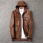 Мужская одежда handmade. Livemaster - original item Outerwear: Men`s jacket, made of genuine calfskin. Handmade.