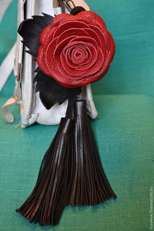 Брелоки ручной работы. Ярмарка Мастеров - ручная работа. Купить Роза Люксембург. Handmade. Роза, украшение для сумки