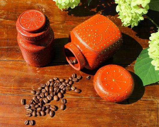 """Кухня ручной работы. Ярмарка Мастеров - ручная работа. Купить Набор баночек для чая, кофе, специй """"Восточная сказка"""". Handmade."""