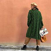 Одежда handmade. Livemaster - original item cardigans: Women`s cardigan oversize handmade green color. Handmade.