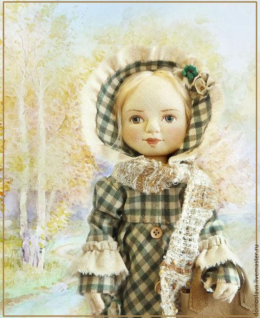 Коллекционные куклы ручной работы. Ярмарка Мастеров - ручная работа. Купить Дарья. Handmade. Оливковый, натуральные материалы, шёлковые ленты