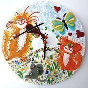 Для дома и интерьера ручной работы. Ярмарка Мастеров - ручная работа Часы настенные Музыка стекло фьюзинг. Handmade.