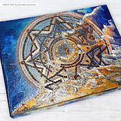 Картины и панно handmade. Livemaster - original item Pictures: Amber mandala Atlantis. Handmade.