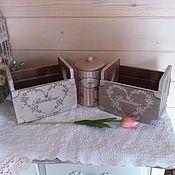 """Для дома и интерьера ручной работы. Ярмарка Мастеров - ручная работа Комплект Французский шарм"""". Handmade."""