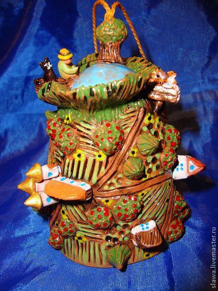 """Колокольчики ручной работы. Ярмарка Мастеров - ручная работа. Купить Колокольчик - Домикольчик """"Гармония"""". Handmade. Лето, деревья, глазурь"""
