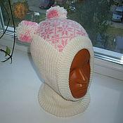 """Работы для детей, ручной работы. Ярмарка Мастеров - ручная работа Шапочка-шлем """"Снежинки"""". Handmade."""