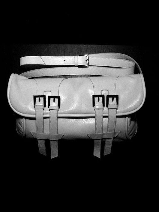 """Женские сумки ручной работы. Ярмарка Мастеров - ручная работа. Купить Кожаный клатч """"White clutch"""". Handmade. Белый"""