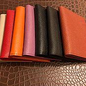 Канцелярские товары handmade. Livemaster - original item Leather cover for 3-in1 auto documents. Handmade.