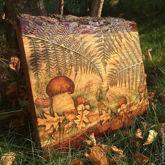 """Пейзаж ручной работы. Ярмарка Мастеров - ручная работа. Купить Живая картина """"В тени папоротника"""". Handmade. Картина в подарок"""