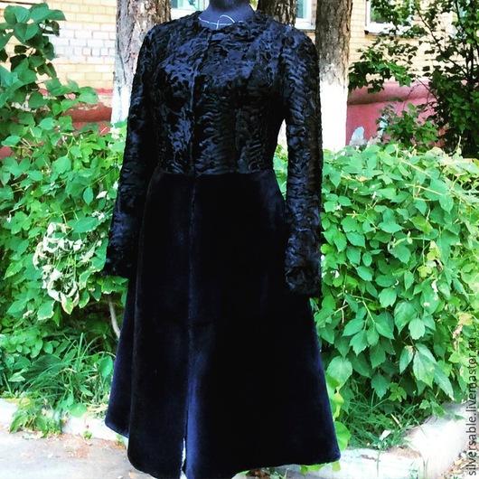 Верхняя одежда ручной работы. Ярмарка Мастеров - ручная работа. Купить Меховое пальто. Handmade. Черный, шуба, Бобер