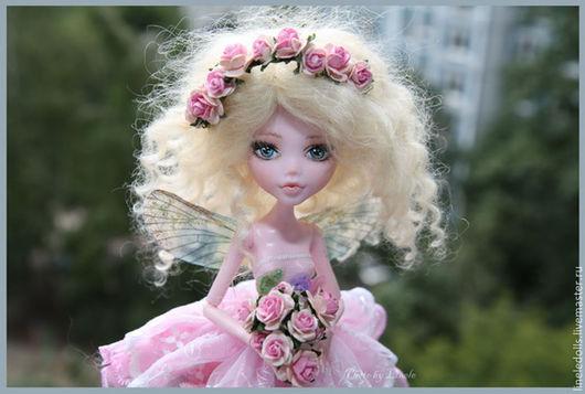 """Коллекционные куклы ручной работы. Ярмарка Мастеров - ручная работа. Купить """"Кэнди"""" OOAK Monster High. Handmade. Бледно-розовый"""