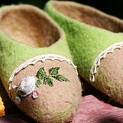 """Обувь ручной работы. Ярмарка Мастеров - ручная работа Тапочки валяные """"Королева Виктория"""" из овечьей шерсти. Handmade."""