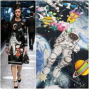 Материалы для творчества ручной работы. Ярмарка Мастеров - ручная работа НОВИНКА от Dolce & Gabbana сатин стрейч хлопок ткань Италия. Handmade.