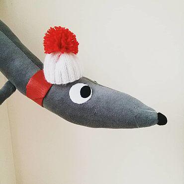 Куклы и игрушки ручной работы. Ярмарка Мастеров - ручная работа Крыс Иваныч (символ 2020 Нового года). Handmade.