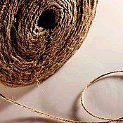 Материалы для творчества handmade. Livemaster - original item Twine two-thread jute polished 1200tex for decor, crafts. Handmade.