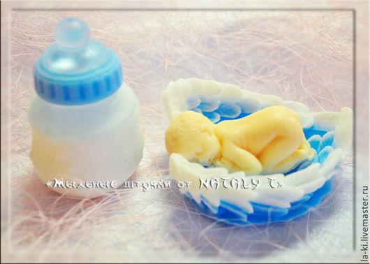 """Подарочные наборы косметики ручной работы. Ярмарка Мастеров - ручная работа. Купить Мыльный набор """"С новорожденным"""". Handmade. Девочка"""