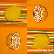 Материалы для творчества handmade. Livemaster - original item Napkin for decoupage lemons oranges print. Handmade.