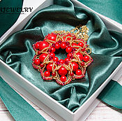 Украшения handmade. Livemaster - original item Pendant, brooch of coral and an excellent of beads