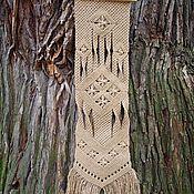 Картины и панно ручной работы. Ярмарка Мастеров - ручная работа «Звёздная фуга», плетёное панно, макраме. Handmade.