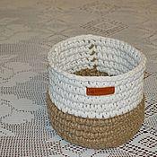 Корзины ручной работы. Ярмарка Мастеров - ручная работа Корзина из джута. Handmade.