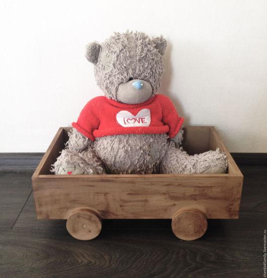 Для новорожденных, ручной работы. Ярмарка Мастеров - ручная работа. Купить Деревянная машинка для фотосессии малыша. Handmade. Коричневый, фотосессия