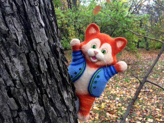Кукольный театр ручной работы. Ярмарка Мастеров - ручная работа. Купить Рыжий кот - перчаточная игрушка. Handmade. Рыжий