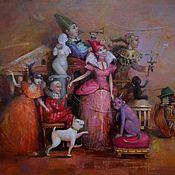 """Картины и панно ручной работы. Ярмарка Мастеров - ручная работа Авторская картина маслом """"Театр"""" 45/55см. Handmade."""