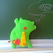 Куклы и игрушки ручной работы. Ярмарка Мастеров - ручная работа котейка из флиса Интелегент. Handmade.