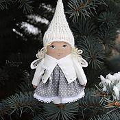 Куклы и игрушки ручной работы. Ярмарка Мастеров - ручная работа Елочная игрушка - зимний:) ангел. Handmade.