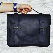 """Классическая сумка ручной работы. Ярмарка Мастеров - ручная работа Кожаная сумка """"Чарли"""" в темно-синем цвете. Handmade."""