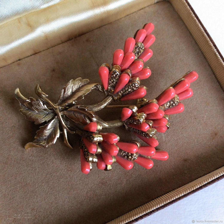 Brooch Har Us 50-ies of the coral branch, Vintage brooches, Ramenskoye,  Фото №1