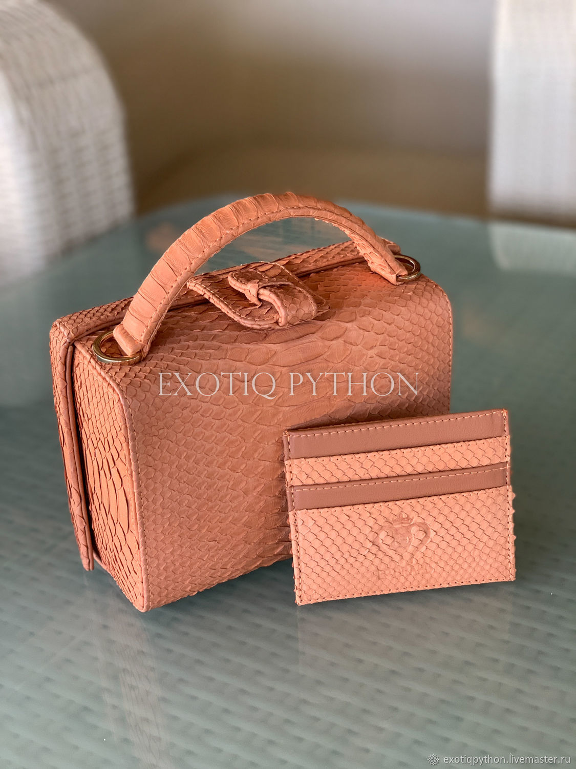 Bag-box made of Python skin, Classic Bag, Moscow,  Фото №1