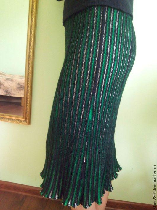 """Юбки ручной работы. Ярмарка Мастеров - ручная работа. Купить """"Аля гофре"""". Handmade. Комбинированный, юбка макси, юбка"""
