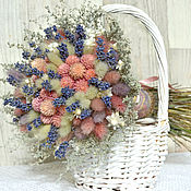 Цветы и флористика ручной работы. Ярмарка Мастеров - ручная работа «Лавандовое утро» букет из сухоцветов. Handmade.