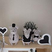 Куклы и игрушки ручной работы. Ярмарка Мастеров - ручная работа Три серых кардинала. Handmade.