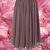 """Одежда ручной работы. Ярмарка Мастеров - ручная работа длинная шифоновая юбка """"Какао"""". Handmade."""