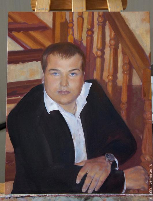 Люди, ручной работы. Ярмарка Мастеров - ручная работа. Купить Мужской портрет на заказ. Handmade. Разноцветный, мужской портрет, Декор